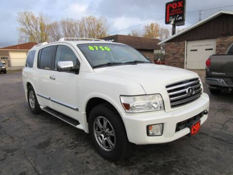 2005 Infiniti QX56 for sale at Fox River Motors in Green Bay WI