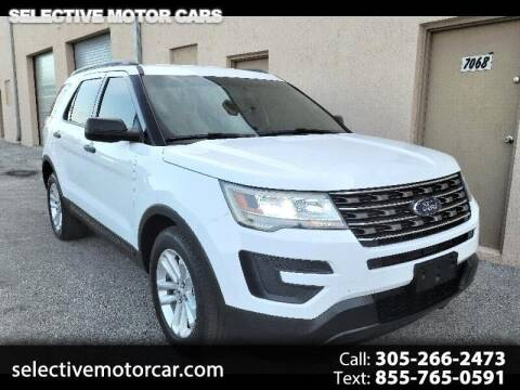 2016 Ford Explorer for sale at Selective Motor Cars in Miami FL