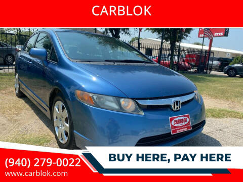2007 Honda Civic for sale at CARBLOK in Lewisville TX