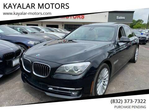 2013 BMW 7 Series for sale at KAYALAR MOTORS in Houston TX