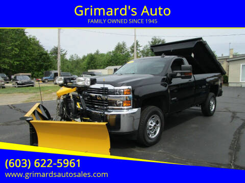 2016 Chevrolet Silverado 2500HD for sale at Grimard's Auto in Hooksett NH