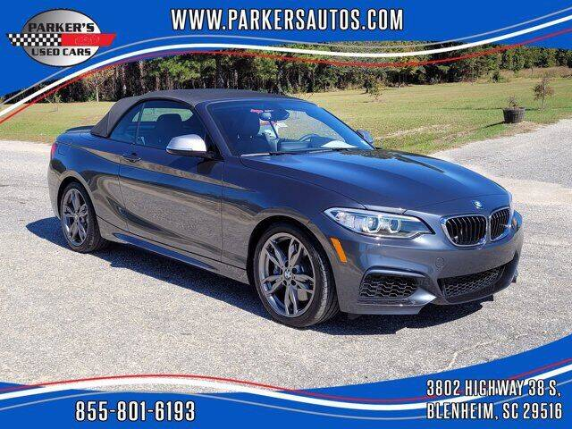 2016 BMW 2 Series for sale at Parker's Used Cars in Blenheim SC