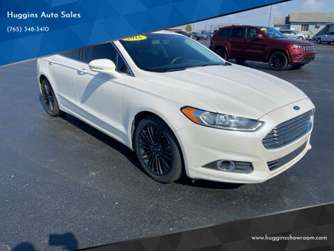 2016 Ford Fusion for sale at Huggins Auto Sales in Hartford City IN