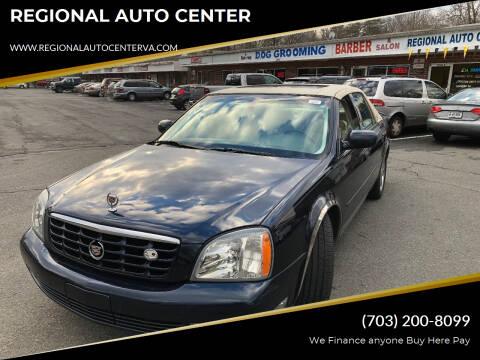 2003 Cadillac DeVille for sale at REGIONAL AUTO CENTER in Stafford VA