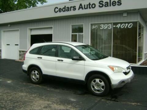 2009 Honda CR-V for sale at Cedar Auto Sales in Lansing MI