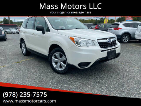 2016 Subaru Forester for sale at Mass Motors LLC in Worcester MA