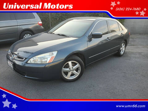 2003 Honda Accord for sale at Universal Motors in Glendora CA