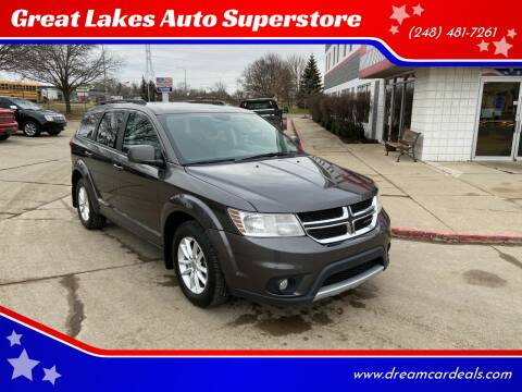2017 Dodge Journey for sale at Great Lakes Auto Superstore in Pontiac MI