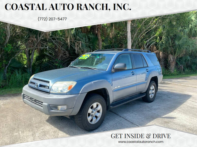 2003 Toyota 4Runner for sale at Coastal Auto Ranch, Inc. in Port Saint Lucie FL