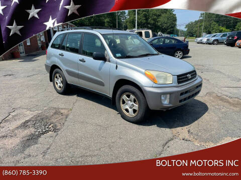 2002 Toyota RAV4 for sale at BOLTON MOTORS INC in Bolton CT