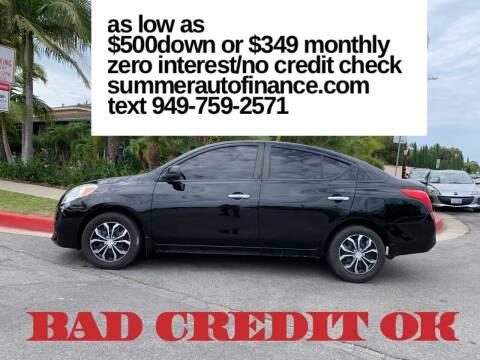 2012 Nissan Versa for sale at SUMMER AUTO FINANCE in Costa Mesa CA