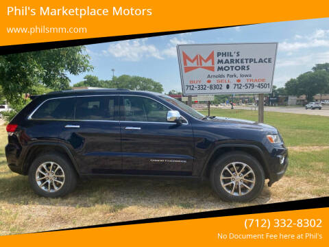 2014 Jeep Grand Cherokee for sale at Phil's Marketplace Motors in Arnolds Park IA