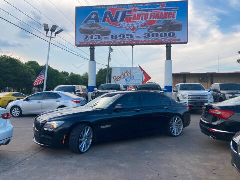 2011 BMW 7 Series for sale at ANF AUTO FINANCE in Houston TX
