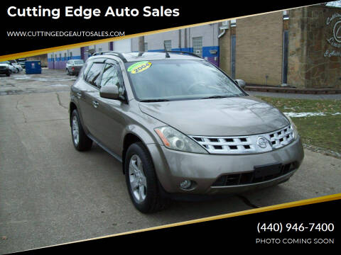 2004 Nissan Murano for sale at Cutting Edge Auto Sales in Willoughby OH