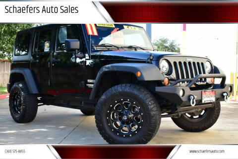 2011 Jeep Wrangler Unlimited for sale at Schaefers Auto Sales in Victoria TX