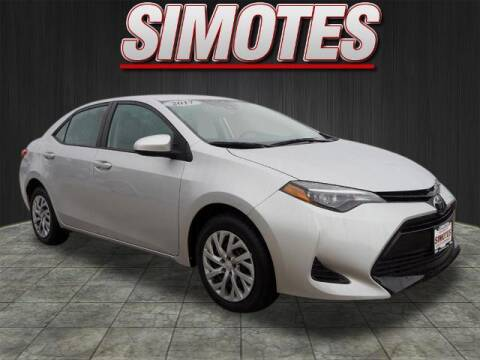 2017 Toyota Corolla for sale at SIMOTES MOTORS in Minooka IL