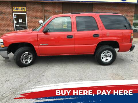 2001 Chevrolet Tahoe for sale at Atlas Cars Inc. in Radcliff KY