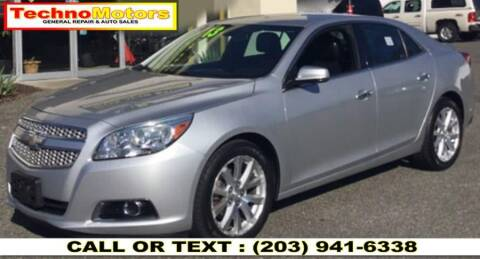 2013 Chevrolet Malibu for sale at Techno Motors in Danbury CT