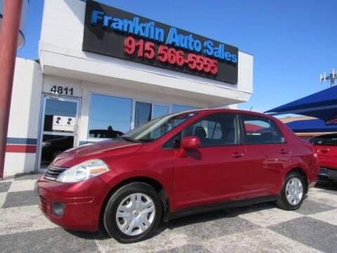 2010 Nissan Versa for sale at Franklin Auto Sales in El Paso TX
