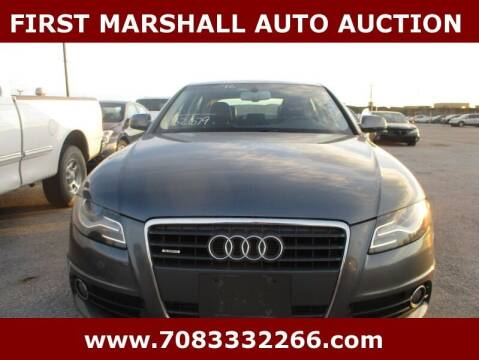 2012 Audi A4 for sale at First Marshall Auto Auction in Harvey IL