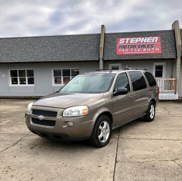 2006 Chevrolet Uplander for sale at Stephen Motor Sales LLC in Caldwell OH
