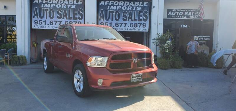 2013 RAM Ram Pickup 1500 for sale at Affordable Imports Auto Sales in Murrieta CA