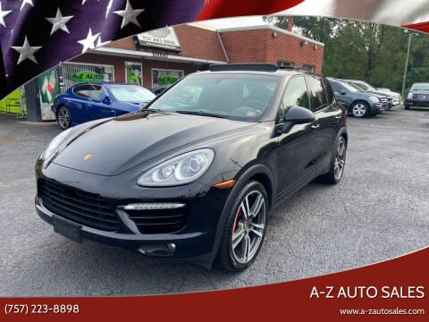 2013 Porsche Cayenne for sale at A-Z Auto Sales in Newport News VA