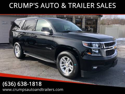 2015 Chevrolet Tahoe for sale at CRUMP'S AUTO & TRAILER SALES in Crystal City MO