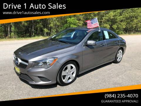 2015 Mercedes-Benz CLA for sale at Drive 1 Auto Sales in Wake Forest NC