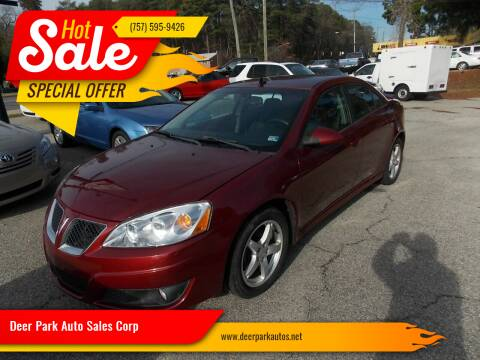 2009 Pontiac G6 for sale at Deer Park Auto Sales Corp in Newport News VA