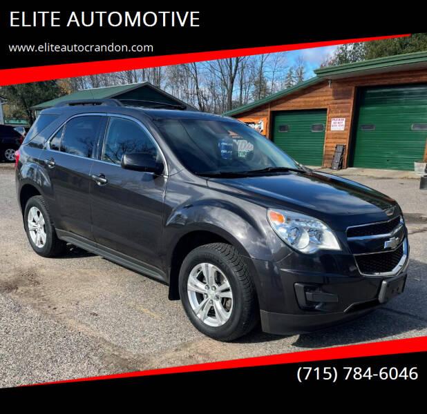 2013 Chevrolet Equinox for sale at ELITE AUTOMOTIVE in Crandon WI