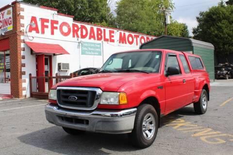 2004 Ford Ranger for sale at AFFORDABLE MOTORS INC in Winston Salem NC