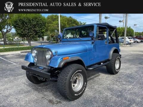 1986 Jeep CJ-7 for sale at Presidential Auto  Sales & Service in Delray Beach FL