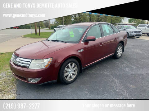 2008 Ford Taurus for sale at GENE AND TONYS DEMOTTE AUTO SALES in Demotte IN