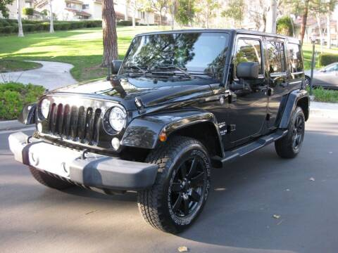 2015 Jeep Wrangler Unlimited for sale at E MOTORCARS in Fullerton CA