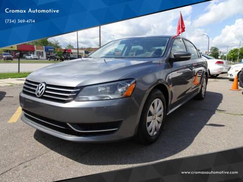 2013 Volkswagen Passat for sale at Cromax Automotive in Ann Arbor MI