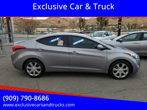 2012 Hyundai Elantra for sale at Exclusive Car & Truck in Yucaipa CA