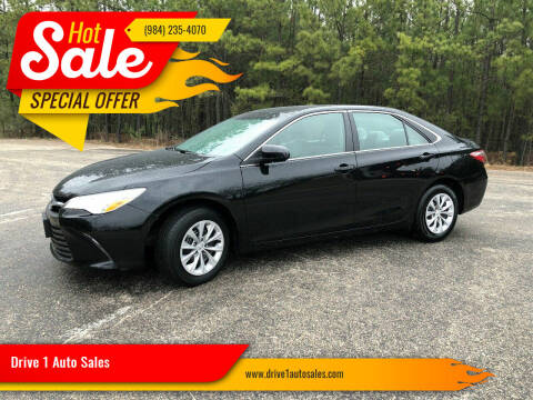 2016 Toyota Camry for sale at Drive 1 Auto Sales in Wake Forest NC