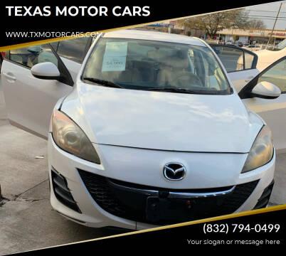 2010 Mazda MAZDA3 for sale at TEXAS MOTOR CARS in Houston TX