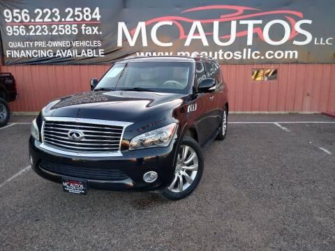2012 Infiniti QX56 for sale at MC Autos LLC in Pharr TX