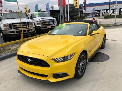 2017 Ford Mustang for sale at Navarro Auto Motors in Hialeah FL
