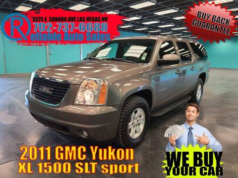 2011 GMC Yukon XL for sale at Reliable Auto Sales in Las Vegas NV