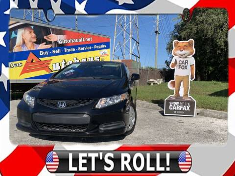 2013 Honda Civic for sale at Das Autohaus Quality Used Cars in Clearwater FL