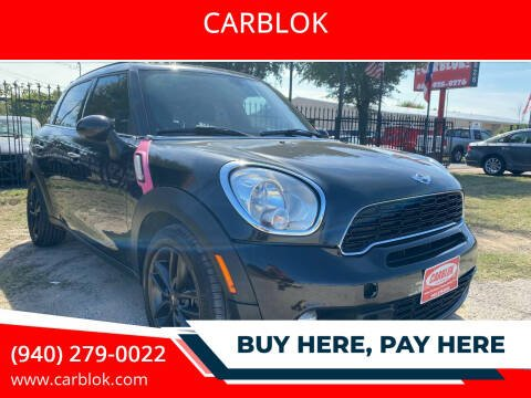 2013 MINI Countryman for sale at CARBLOK in Lewisville TX