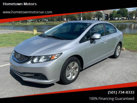 2013 Honda Civic for sale at Hometown Motors in Jacksonville AR