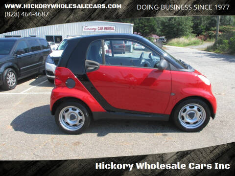 2009 Smart fortwo for sale at Hickory Wholesale Cars Inc in Newton NC