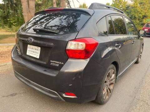 2012 Subaru Impreza for sale at CLEAR CHOICE AUTOMOTIVE in Milwaukie OR