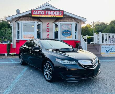 2015 Acura TLX for sale at Auto Finders Unlimited LLC in Vineland NJ