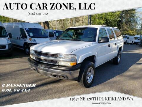 2003 Chevrolet Suburban for sale at Auto Car Zone, LLC in Kirkland WA