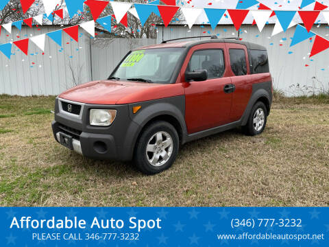2003 Honda Element for sale at Affordable Auto Spot in Houston TX
